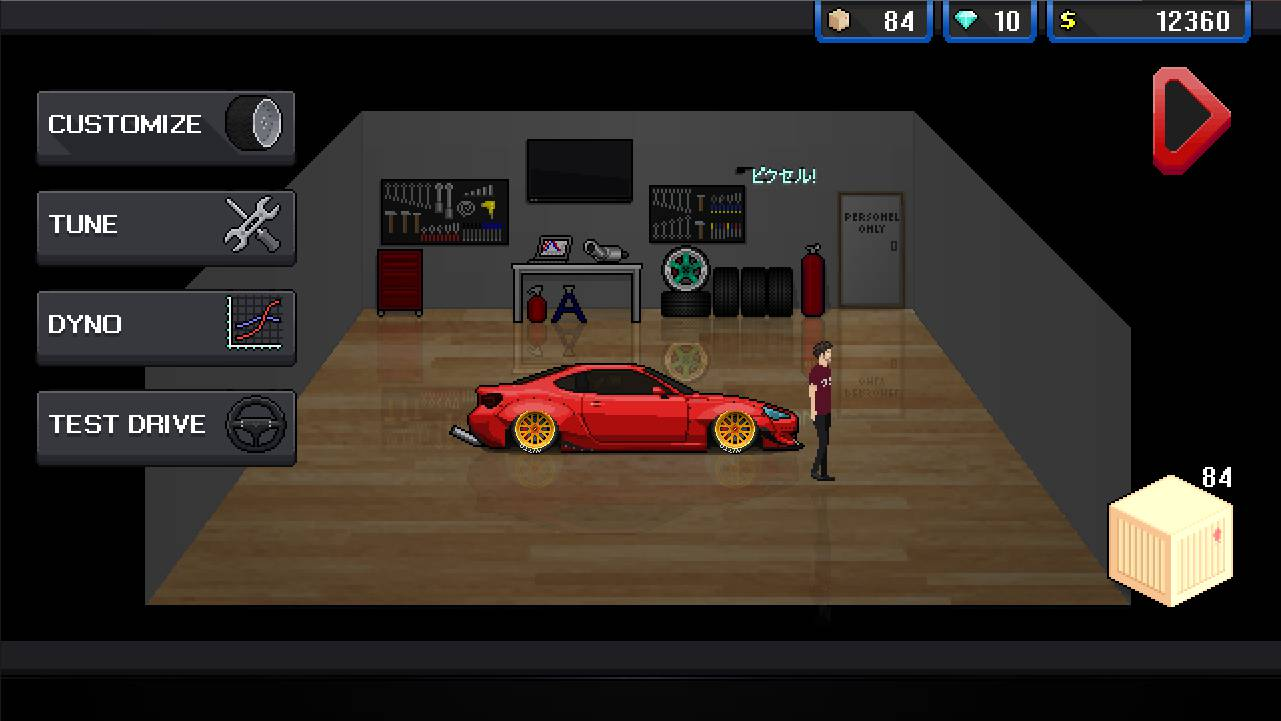 Pixel Car Racer New Nsx Tune